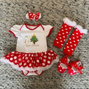 Baby Girl First Christmas Outfit 6-12 month